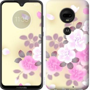 Чехол на Motorola Moto G7 Японские цветы