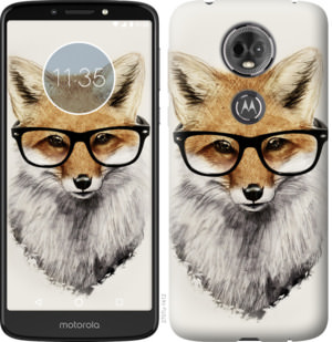 Чехол на Motorola Moto E5 Plus Лис в очках