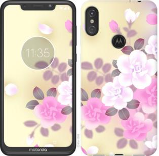 Чехол на Motorola One Power Японские цветы