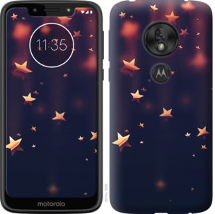 Чехол на Motorola Moto G7 Play Падающие звезды