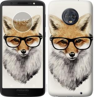 Чехол на Motorola Moto G6 Plus Лис в очках