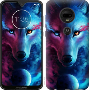 Чехол на Motorola Moto G7 Арт-волк