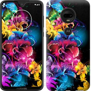 Чехол на Motorola Moto G7 Абстрактные цветы