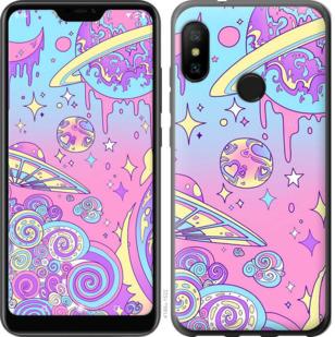 Чехол на Motorola One Розовая галактика