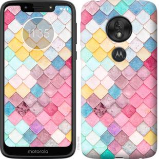 Чехол на Motorola Moto G7 Play Красочная черепица