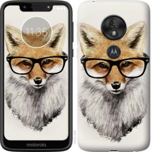 Чехол на Motorola Moto G7 Play Лис в очках