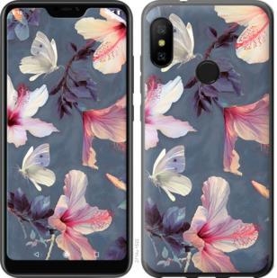 Чехол на Motorola One Нарисованные цветы
