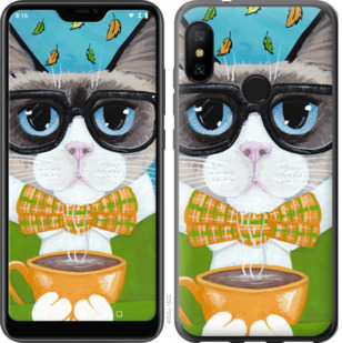 Чехол на Motorola One CatandCoffee