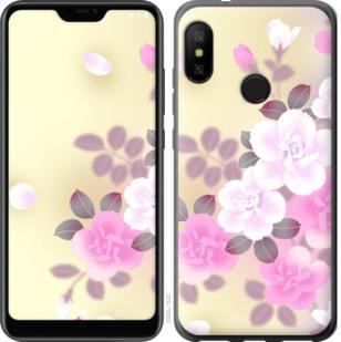 Чехол на Motorola One Японские цветы