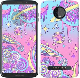 Чехол на Motorola Moto Z3 Play Розовая галактика