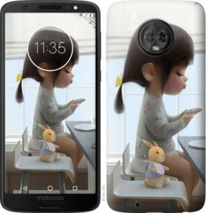 Чехол на Motorola Moto G6 Милая девочка с зайчиком