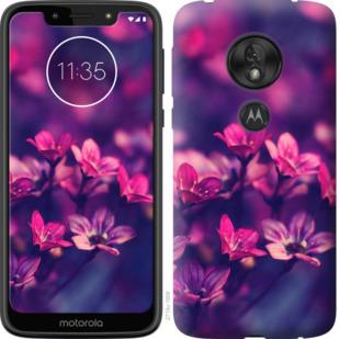 Чехол на Motorola Moto G7 Play Пурпурные цветы