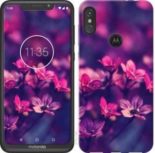 Чехол на Motorola One Power Пурпурные цветы