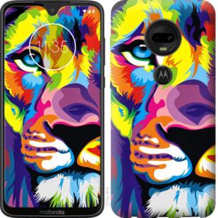Чехол на Motorola Moto G7 Разноцветный лев