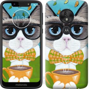 Чехол на Motorola Moto G7 Play CatandCoffee
