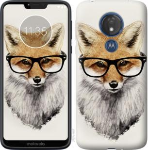 Чехол на Motorola Moto G7 Power Лис в очках