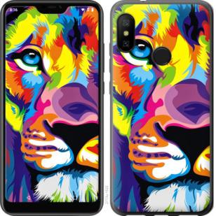 Чехол на Motorola One Разноцветный лев