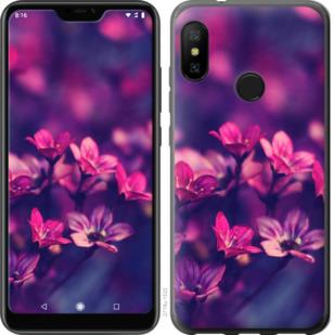 Чехол на Motorola One Пурпурные цветы