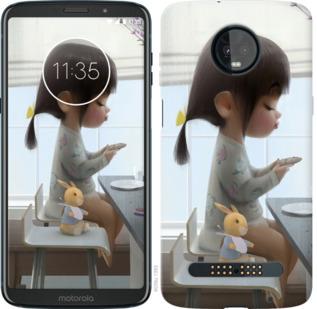 Чехол на Motorola Moto Z3 Play Милая девочка с зайчиком