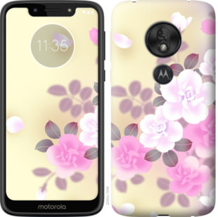 Чехол на Motorola Moto G7 Play Японские цветы