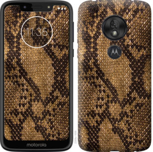 Чехол на Motorola Moto G7 Play Змеиная кожа