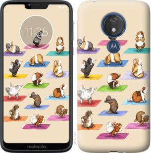 Чехол на Motorola Moto G7 Power Йога морских свинок