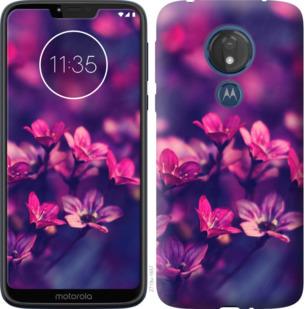 Чехол на Motorola Moto G7 Power Пурпурные цветы