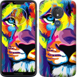 Чехол на Motorola Moto G7 Power Разноцветный лев