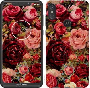 Чехол на Motorola One Power Цветущие розы