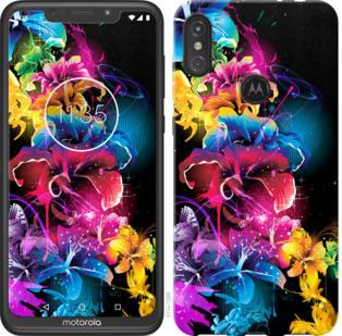Чехол на Motorola One Power Абстрактные цветы