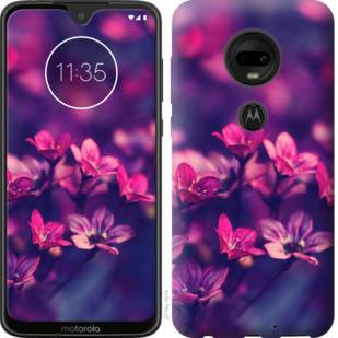 Чехол на Motorola Moto G7 Пурпурные цветы