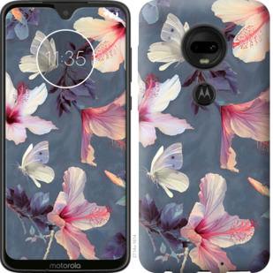 Чехол на Motorola Moto G7 Нарисованные цветы