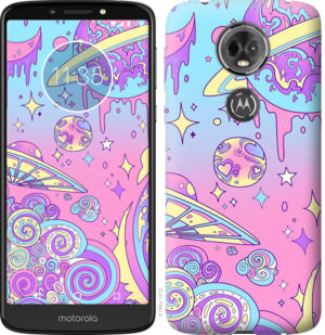 Чехол на Motorola Moto E5 Plus Розовая галактика