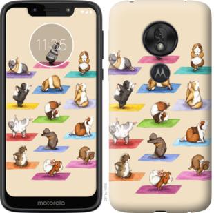 Чехол на Motorola Moto G7 Play Йога морских свинок