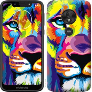 Чехол на Motorola Moto G7 Play Разноцветный лев