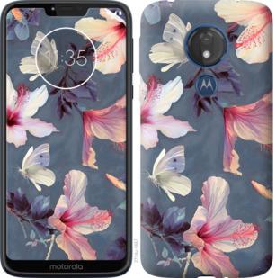 Чехол на Motorola Moto G7 Power Нарисованные цветы