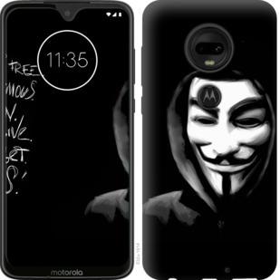 Чехол на Motorola Moto G7 Анонимус