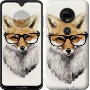 Чехол на Motorola Moto G7 Лис в очках