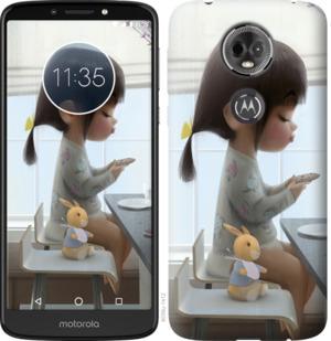 Чехол на Motorola Moto E5 Plus Милая девочка с зайчиком