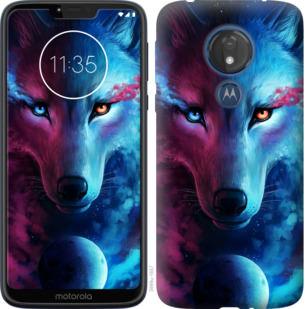 Чехол на Motorola Moto G7 Power Арт-волк