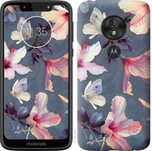 Чехол на Motorola Moto G7 Play Нарисованные цветы