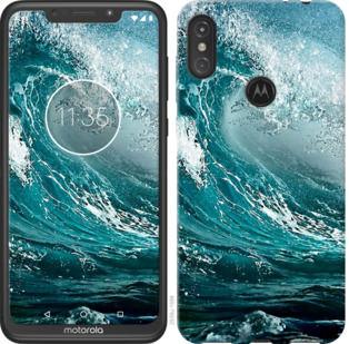 Чехол на Motorola One Power Морская волна