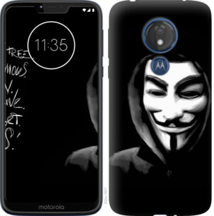Чехол на Motorola Moto G7 Power Анонимус