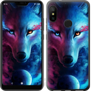 Чехол на Motorola One Арт-волк