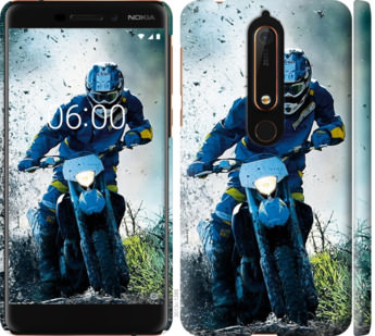 Чехол на Nokia 6.1 Мотокросс