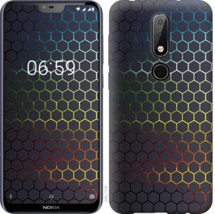 Чехол на Nokia 6.1 Plus Переливающиеся соты