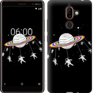 Чехол на Nokia 7 Plus Лунная карусель