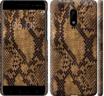 Чехол на Nokia 6 Змеиная кожа