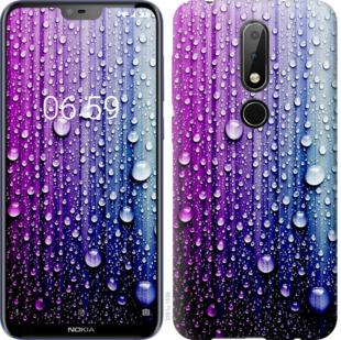 Чехол на Nokia 6.1 Plus Капли воды