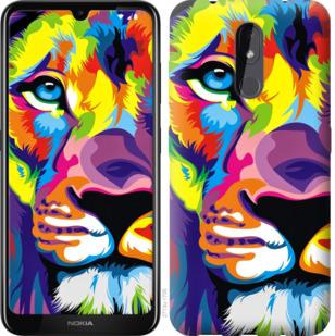 Чехол на Nokia 3.2 Разноцветный лев
